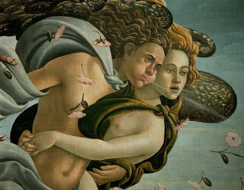 The Birth of Venus (detail).