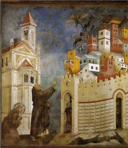 The Expulsion of the Demons from Arezzo. (Detail)