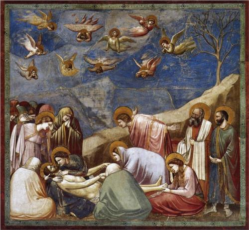 Mourning of Christ. Fresco, Cappella dell'Arena, Padua 1305