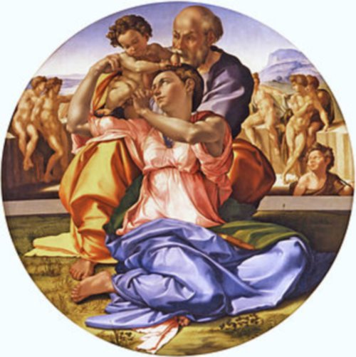 Doni Tondo - The Holy Family with St. John the Baptist