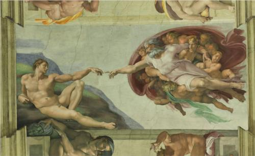 The Creation of Adam. Fresco.