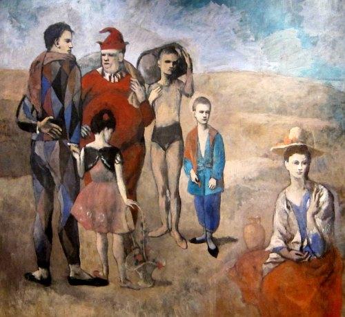 Famille de saltimbanques (Les bateleurs).