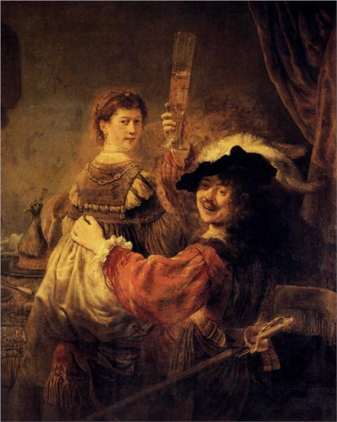 Rembrandt and Saskia.