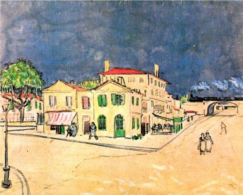 Vincent's House in Arles (The Yellow House).