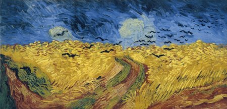Wheat Field with Crows.