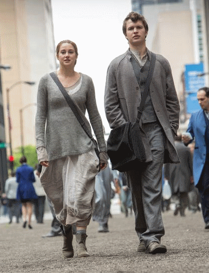 Tris walking with Caleb