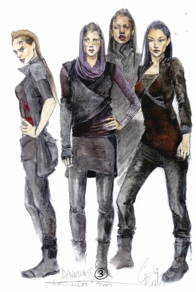 Dauntless Fashion Sketches