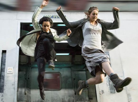 Jumping from train